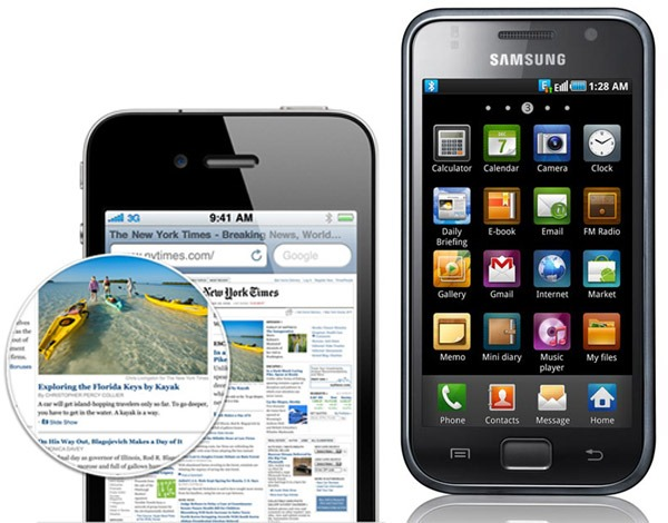 iPhone 4 vs Samsung Galaxy S i9000 – Comparativa, análisis y