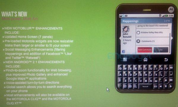 Motorola Charm, un móvil inspirado en el estilo BlackBerry y equipado con Android