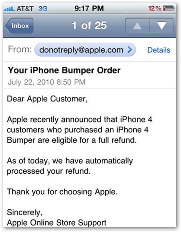 iPhone 4, empieza la devolución de las famosas fundas para iPhone 4