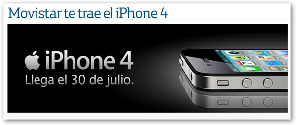 iPhone 4 Movistar, precios y tarifas con Movistar del iPhone 4