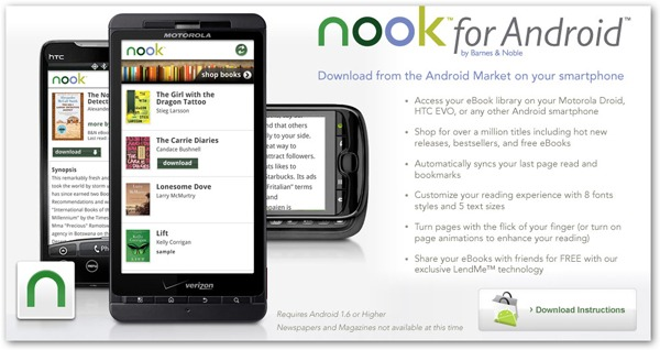 Android, Barnes & Noble lanza Nook para Android