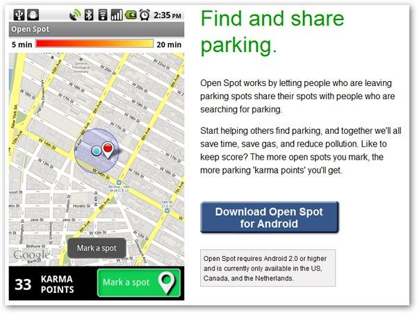 Google Open Spot, una aplicación que nos ayuda a aparcar