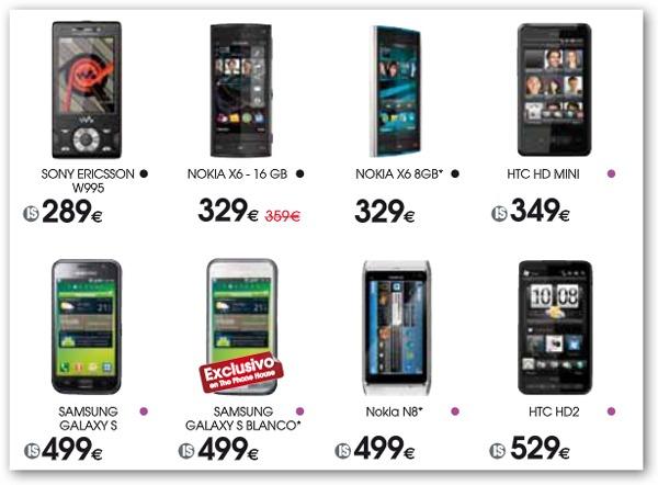 Nokia N8 y Samsung Galaxy S blanco, en España a través de The Phone House