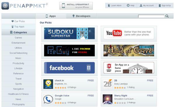 OpenAppMkt, la alternativa abierta a la tienda de aplicaciones de Apple para iPhone e iPad