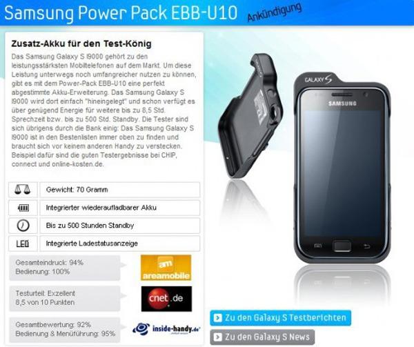 Samsung Galaxy S Power, o cómo alargar la batería de tu Samsung Galaxy S