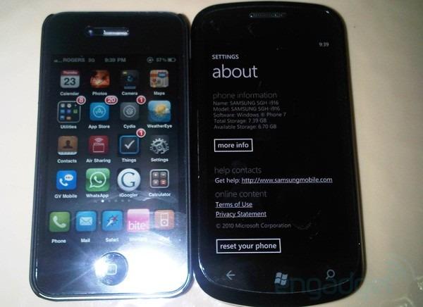 Samsung SGH-i916 o Cetus, nueva imagen del móvil junto a un iPhone 4
