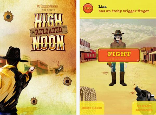 iPhone y High Noon, videojuego multijugador gratis en iTunes