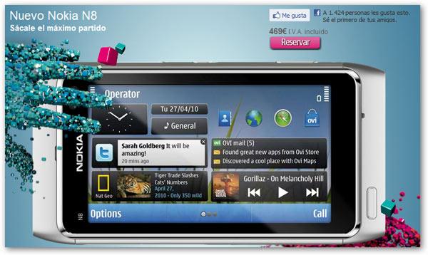 Nokia N8, comienzan los envíos del Nokia N8 a domicilio