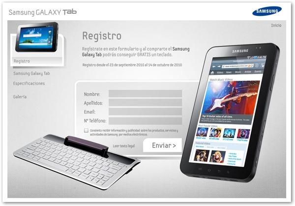 Samsung Galaxy Tab, disponible en España bajo reserva