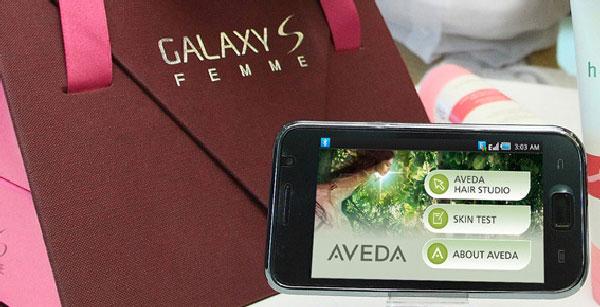 Samsung Galaxy S Femme, versión rosa del móvil táctil de Samsung, ahora con cremas de Aveda