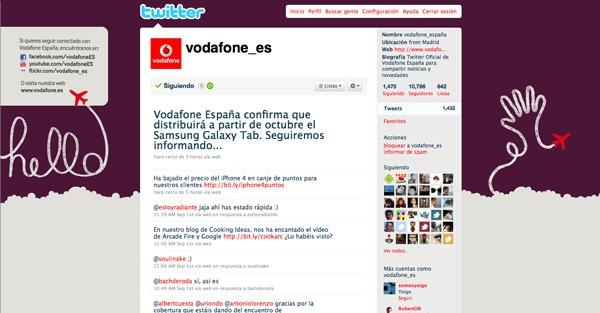 Samsung Galaxy Tab, Vodafone anuncia en Twitter que lo ofrecerá desde octubre
