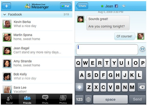 iPhone, nuevo Windows Live Messenger para iPhone