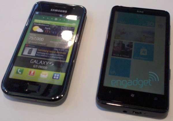 HTC HD7 Schubert se deja ver junto al Samsung Galaxy S