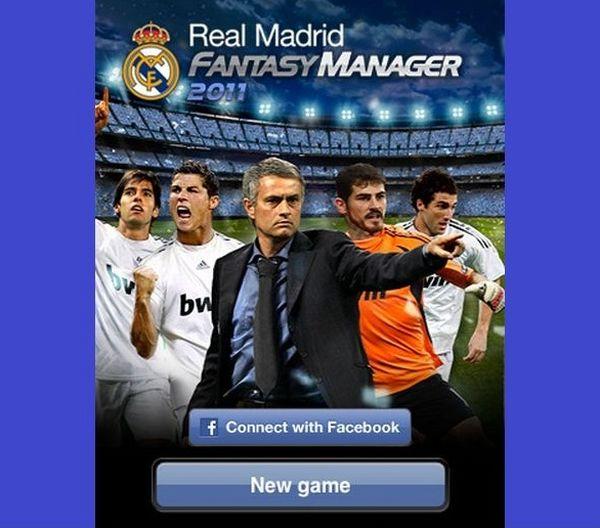 """iPhone y facebook ya tienen el juego """"Real Madrid Fantasy Manager 2011"""""""