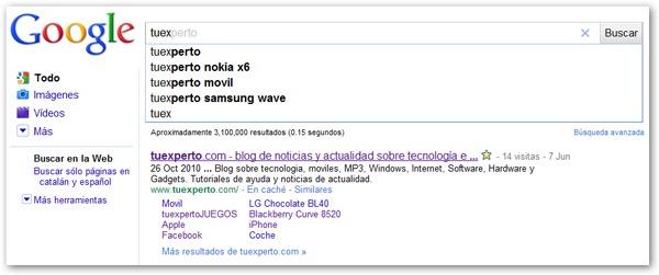 Android con Google Instant, algunos usuarios de Android ya usan Google Instant