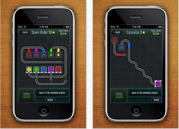 iPhone con Trainyard Express, juego gratis para dispositivos Apple