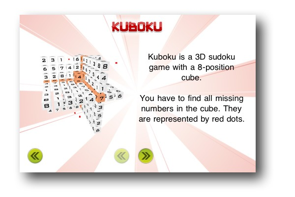 iPhone 4 iPad juegos, sudoku 3D con Kuboku en iPhone 4 y iPad