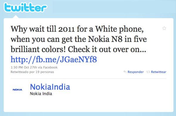 Nokia N8, en Nokia se mofan de Apple por no saber fabricar el iPhone 4 Blanco