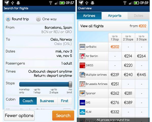 OnTheFly, buscador de vuelos baratos con esta aplicación Android