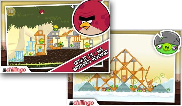 Angry Birds, actualización gratuita con 45 nuevos niveles de Angry Birds para iPhone y Android