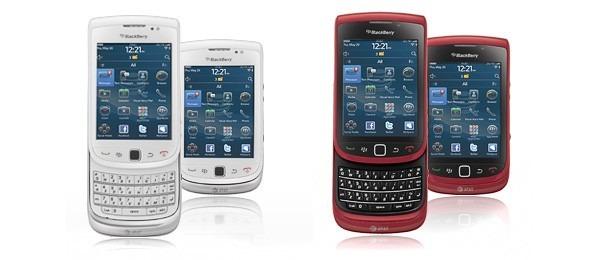 Blackberry Torch blanca y roja, aparecen nuevas versiones en color de la Blackberry Torch