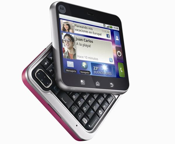 Motorola FlipOUT y Motorola Charm no actualizarán a Android 2.2 FroYo