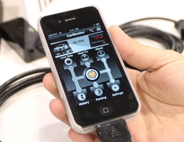 iPhone CarMonitor, aplicación para examinar el comportamiento de un coche Audi