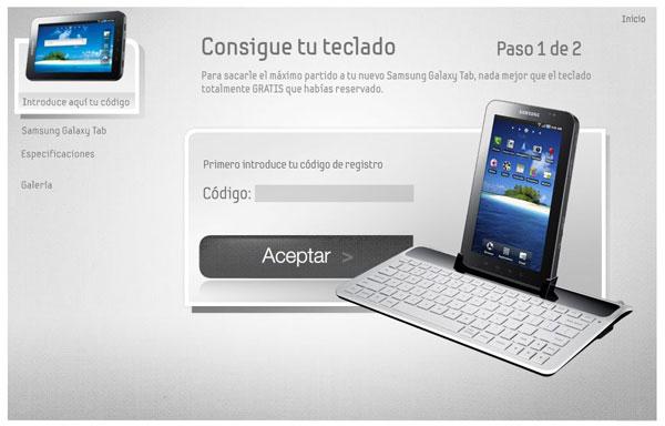 Samsung Galaxy Tab, Samsung ya ha empezado a regalar los teclados del Samsung Galaxy Tab