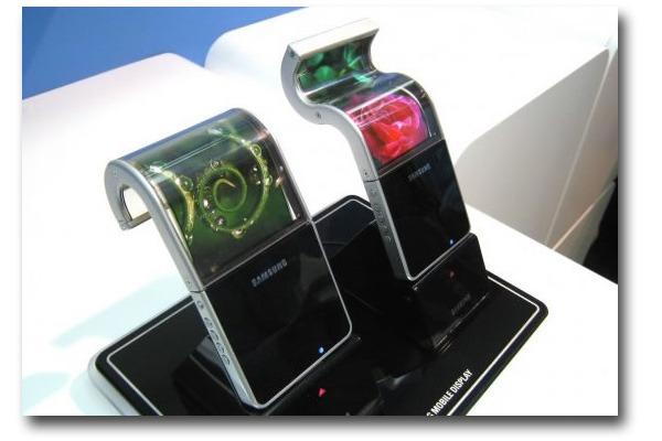 Samsung con pantalla flexible, Samsung presenta las primeras pantallas flexibles en el FDP