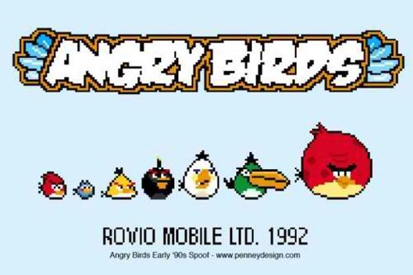 Angry Birds, cómo sería el juego de Angry Birds en los 90