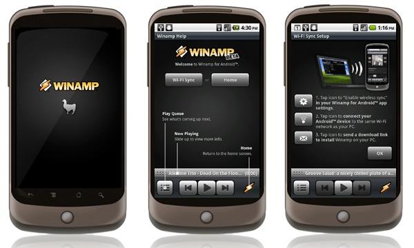Winamp Android, actualización del reproductor Winamp disponible para Android