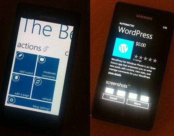 Windows Phone 7, descarga gratis la aplicación WordPress para Windows Phone 7