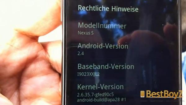 Google Nexus S, se filtra una versión retocada del Google Nexus S con Android 2.4