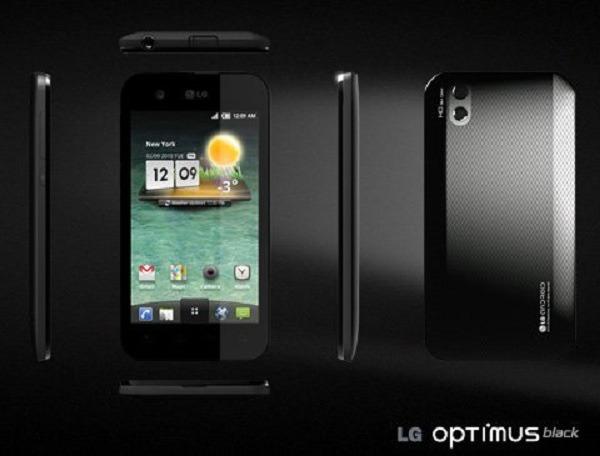 LG Optimus Black libre, precio de este móvil táctil de brillante pantalla con el terminal libre