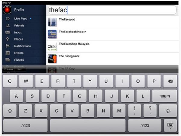 Facepad, nueva versión gratis de Facebook para iPad