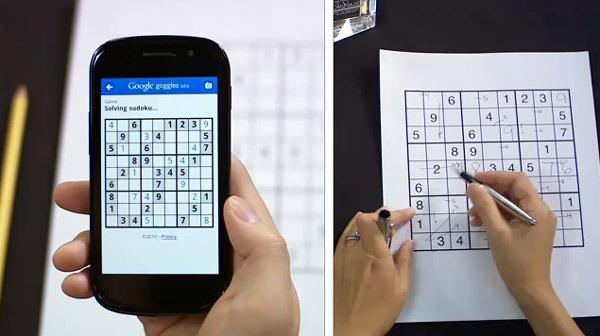 Google Goggles 1.3, aplicación gratis para leer códigos de barras y completar Sudokus