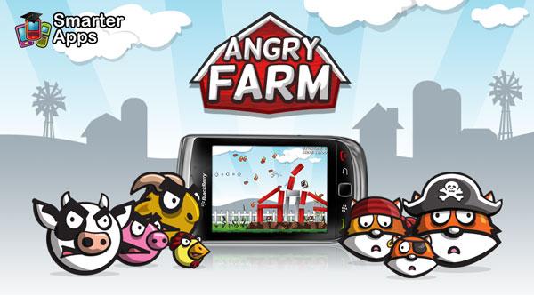 Angry Farm para BlackBerry, la granja enfadada es un nuevo juego para móviles BlackBerry