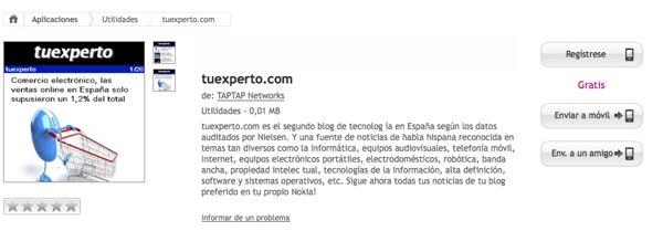 tuexperto.com, aplicación gratis de tuexperto.com para Nokia, Android y iPhone