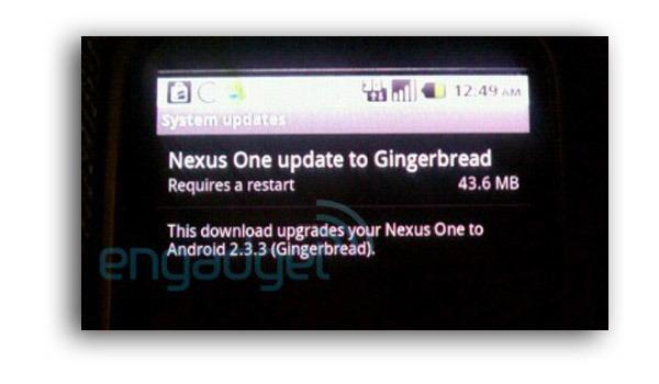 Google Nexus One, la actualización de Android 2.3.3 anula Google Voice