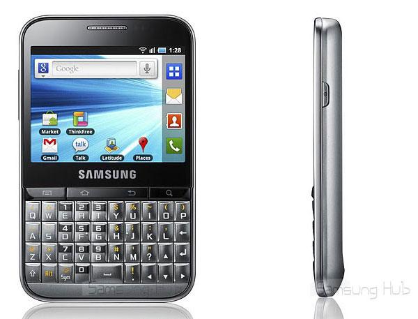 Samsung Galaxy Pro, pantalla táctil con teclado completo al estilo de un móvil profesional