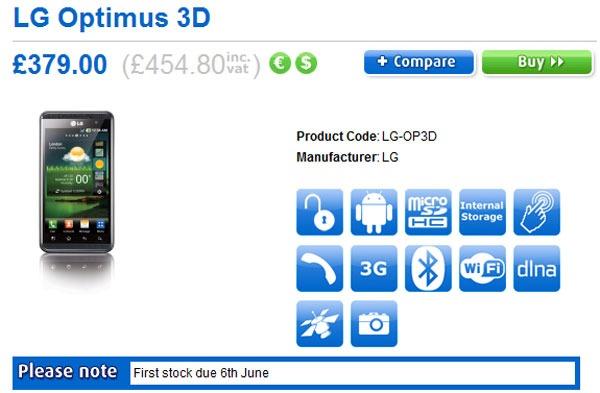 LG Optimus 3D, disponible desde principios de junio