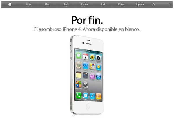 iPhone 4 Blanco gratis con Vodafone, precios y tarifas del iPhone 4 blanco con Vodafone