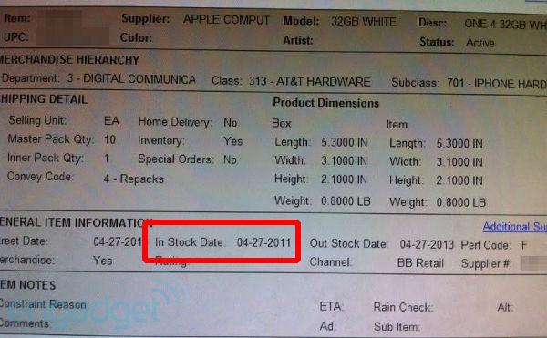 iPhone 4 Blanco, Best Buy también sitúa el lanzamiento del iPhone 4 blanco el 27 de abril