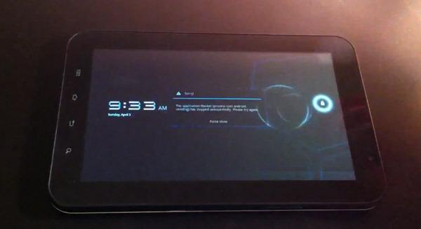 Samsung Galaxy Tab, Android 3.0 Honeycomb llega a la primera tableta de Samsung