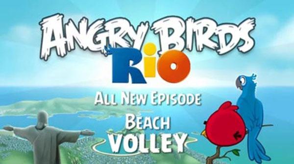 Angry Birds Rio Beach Volley, ya disponible para iPhone, Symbian y Android