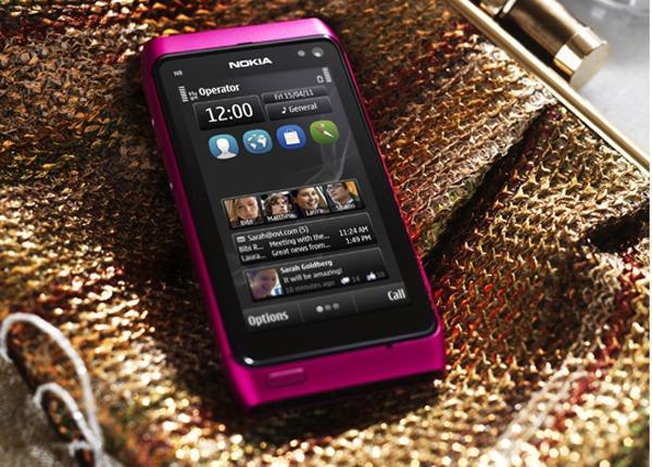 Nokia N8 rosa, Nokia anuncia un Nokia N8 rosa con Symbian Anna