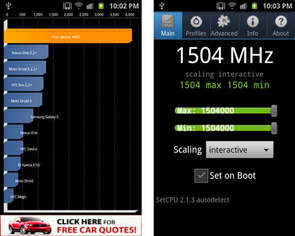 Samsung Galaxy S II, 1,5 GHz de velocidad gracias a una modificación