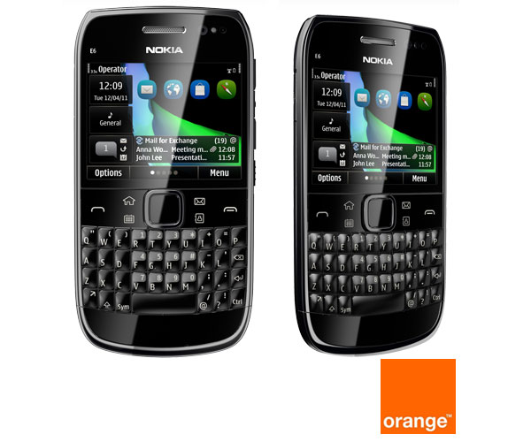 Nokia E6 Orange, precios y tarifas de Nokia E6 con Orange