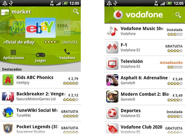 Vodafone estrena su tienda de aplicaciones en la Android Market