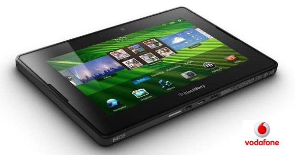 BlackBerry PlayBook con Vodafone, precios y tarifas